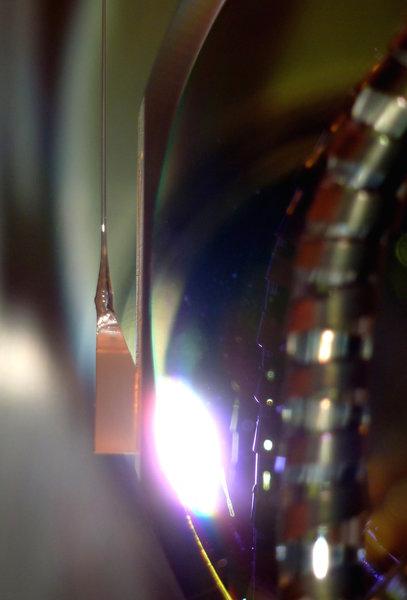 GEO600 monolithic suspension close-up.